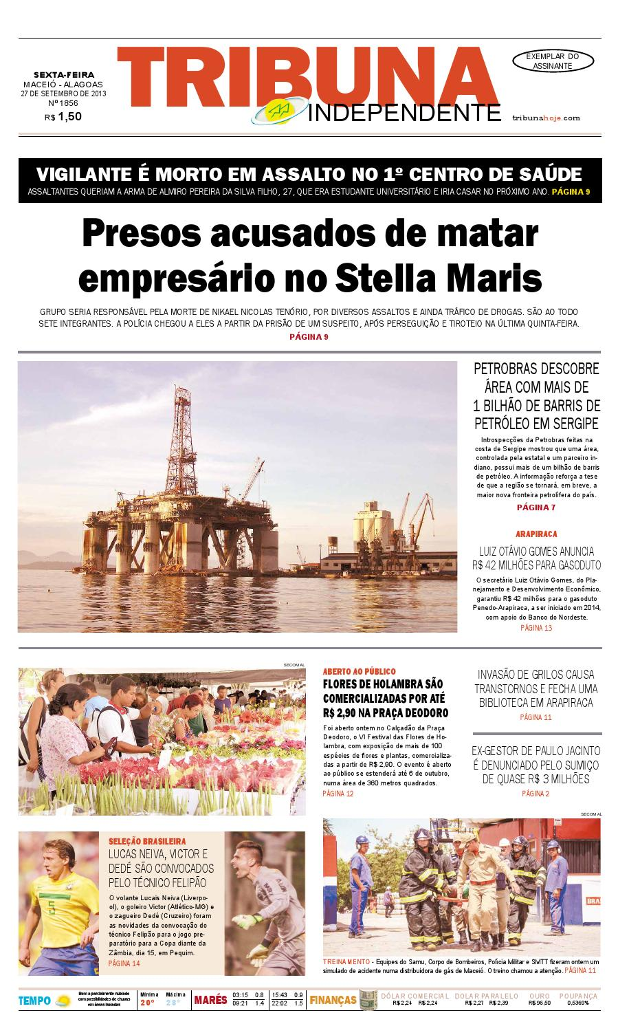 bcc330008 Edição número 1856 - 27 de setembro de 2013 by Tribuna Hoje - issuu