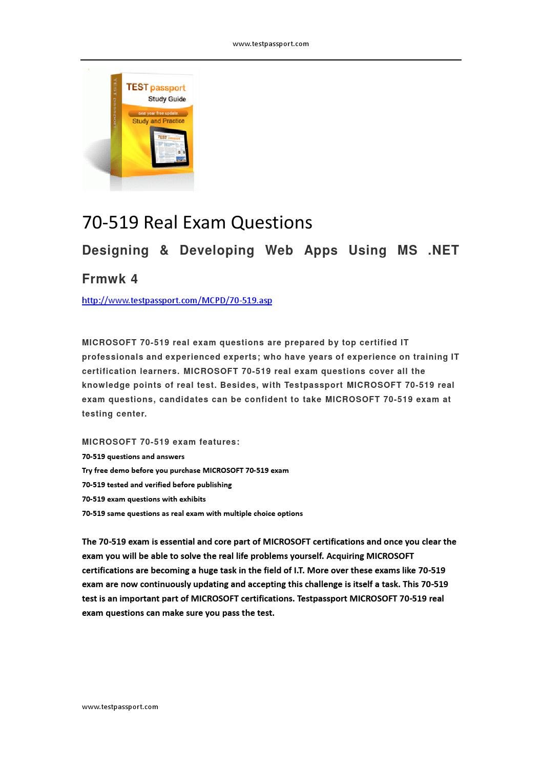 Testpassport 70 519 Real Exam Questions By Mallett Issuu