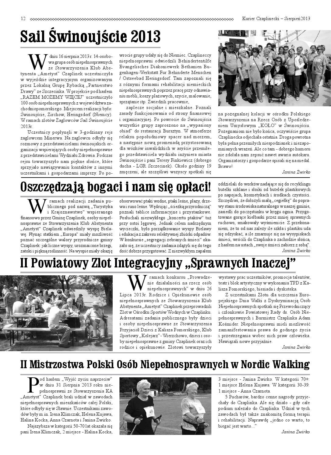 Kurier Czaplinecki - Nr 85, Wrzesień 2013 by Adam Cygan - issuu