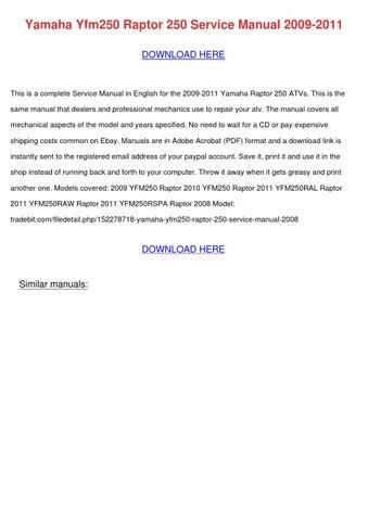 cyclepedia yamaha 250 service manual pdf