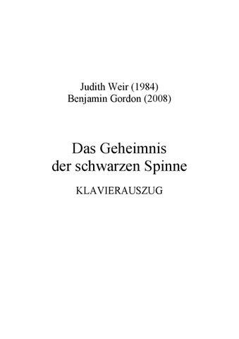 schönes Design 100% Zufriedenheitsgarantie klassisch Weir THE BLACK SPIDER by ScoresOnDemand - issuu