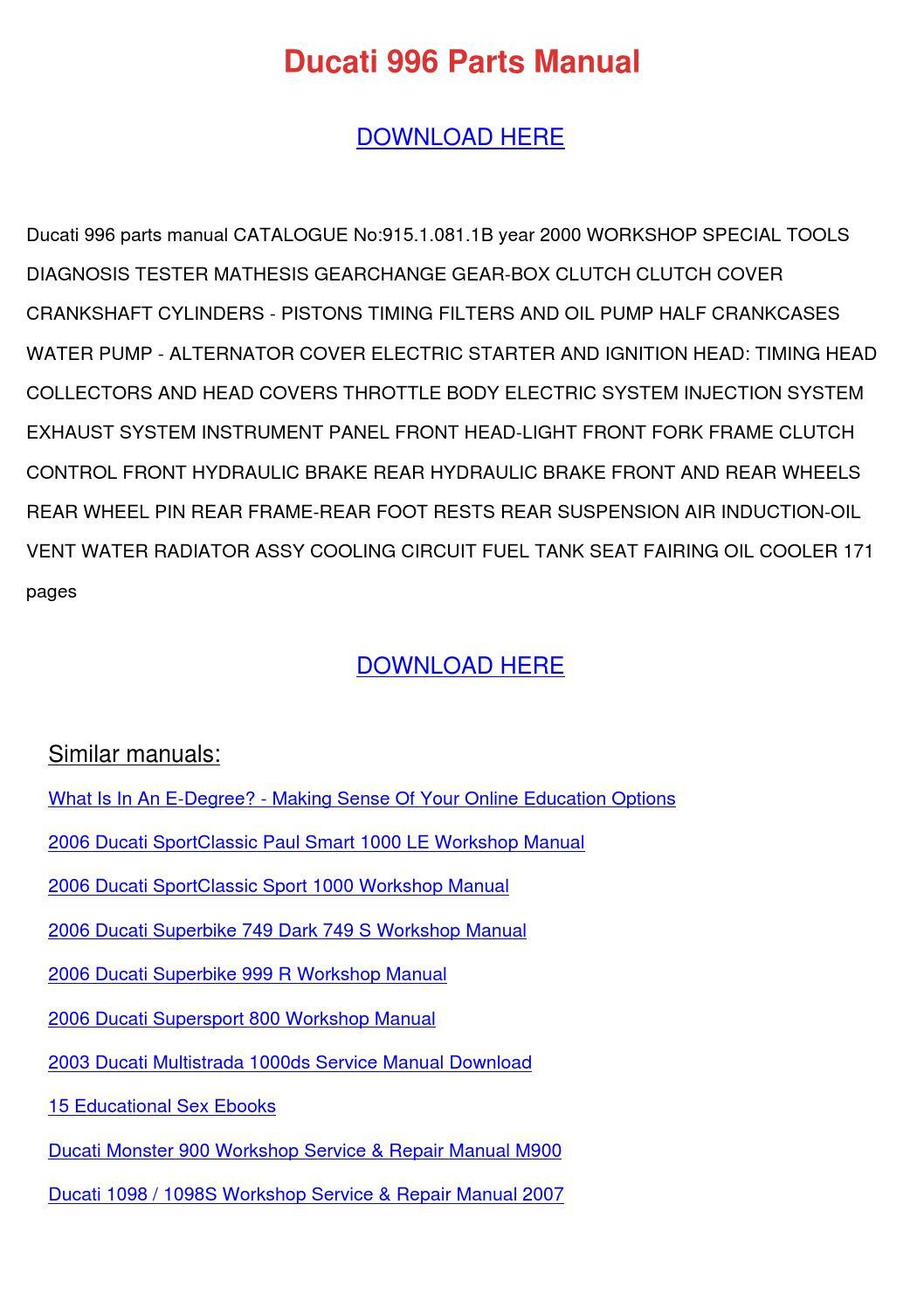 Ducati multistrada 1000ds owners manual download manuals & te.