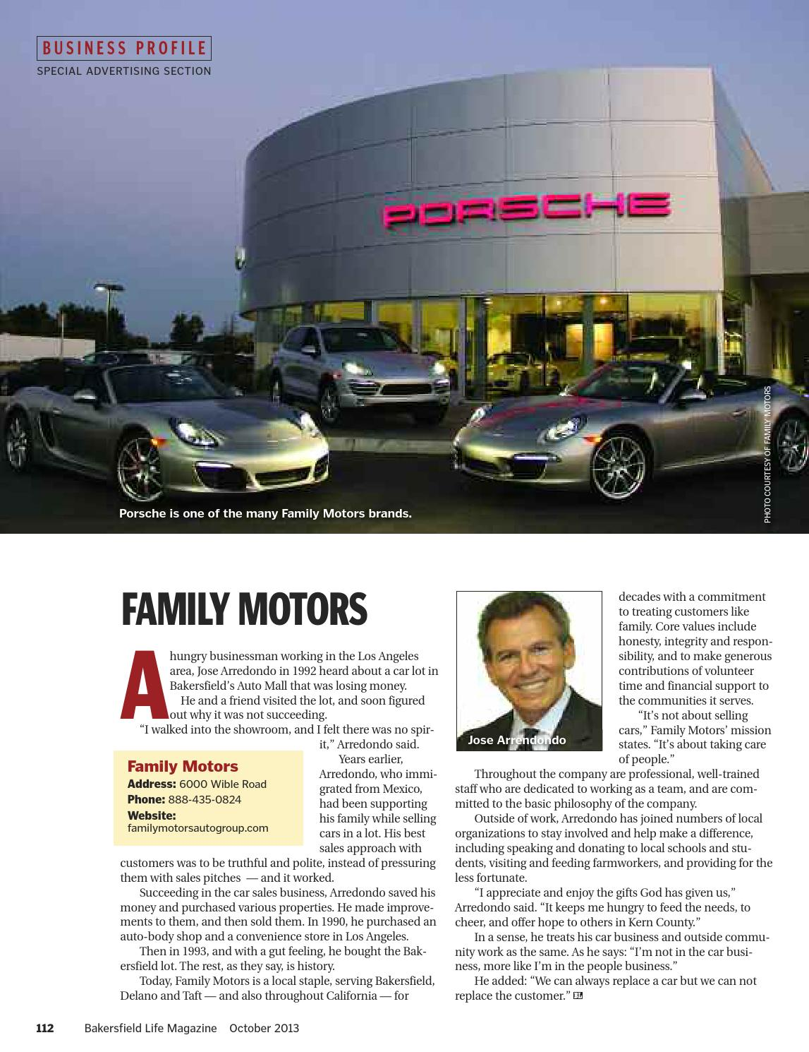 Bakersfield life magazine october 2013 by tbc media for Bakersfield family motors used cars