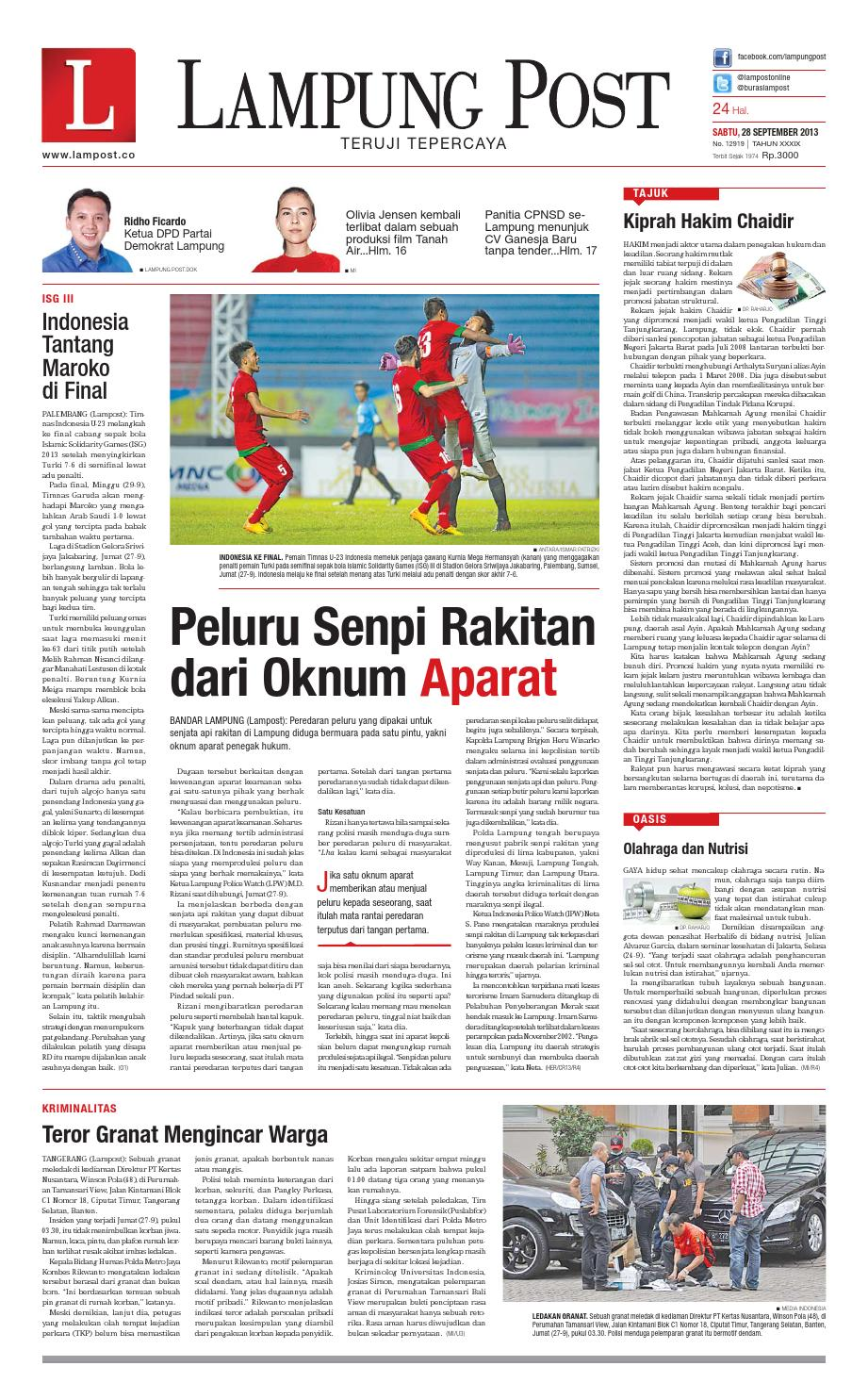 Lampung Post Sabtu 28 September 2013 By Issuu Produk Ukm Bumn Wisata Mewah Bali 3hr 2mlm