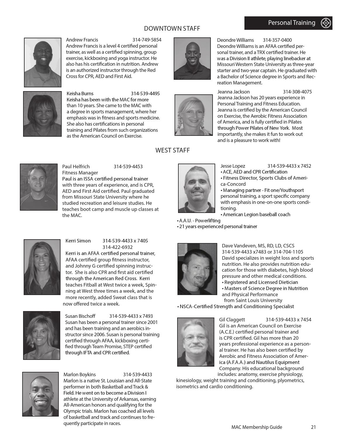 2013 Mac Membership Guide By Missouri Athletic Club Issuu