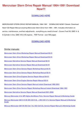 mercruiser 5.7 repair manual pdf