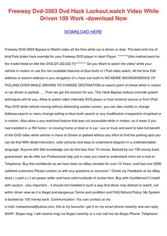 Freeway dvd 3563 dvd hack lockoutwatch video by laceyknott issuu page 1 publicscrutiny Gallery