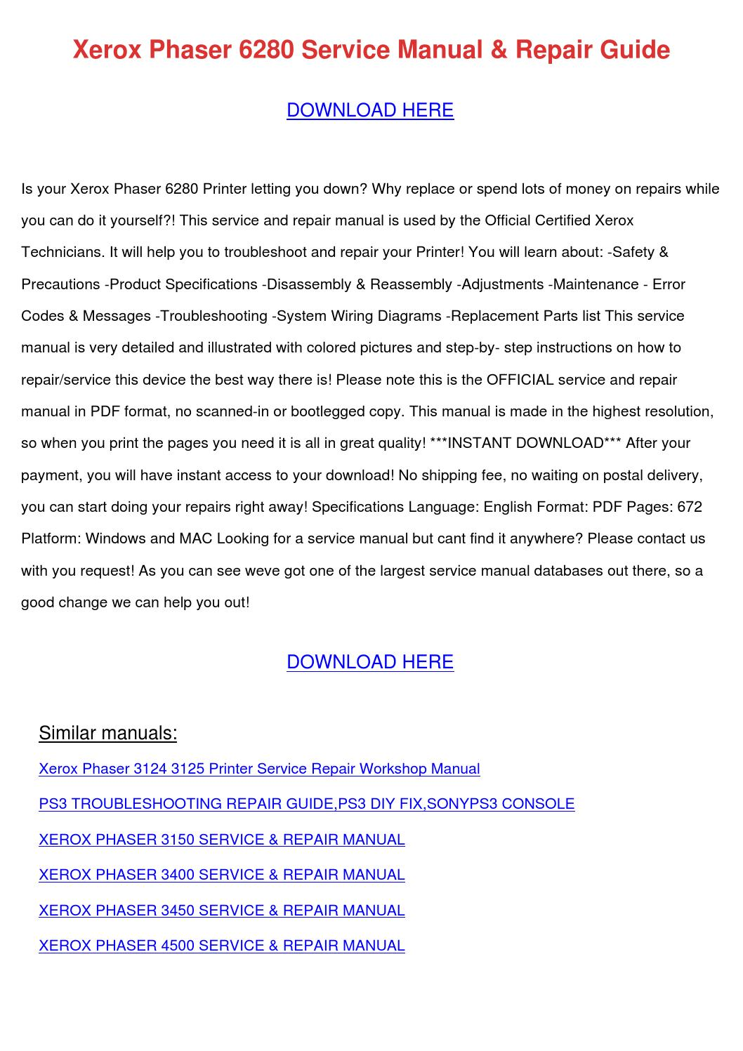 Ps3 Parts Manual Sump Pump Wiring Diagram Float Switch Hecho Playstation Models Array Xerox Phaser 6280 Service Repair Guide By Barbaraandre Issuu Rh