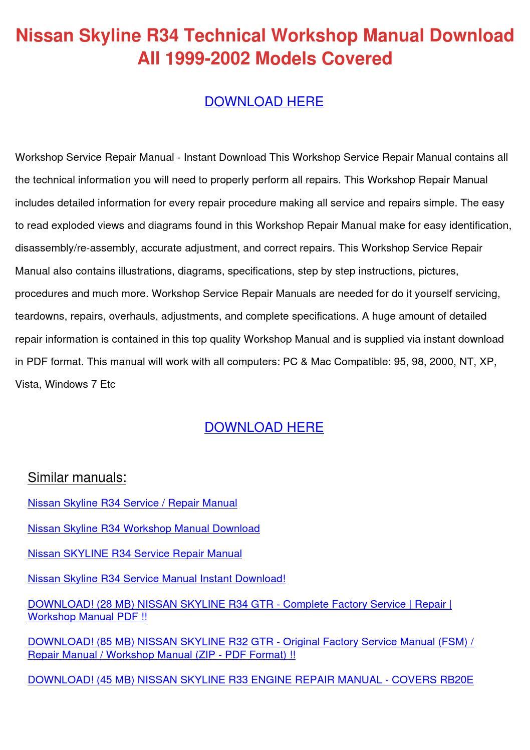 nissan fsm pdf