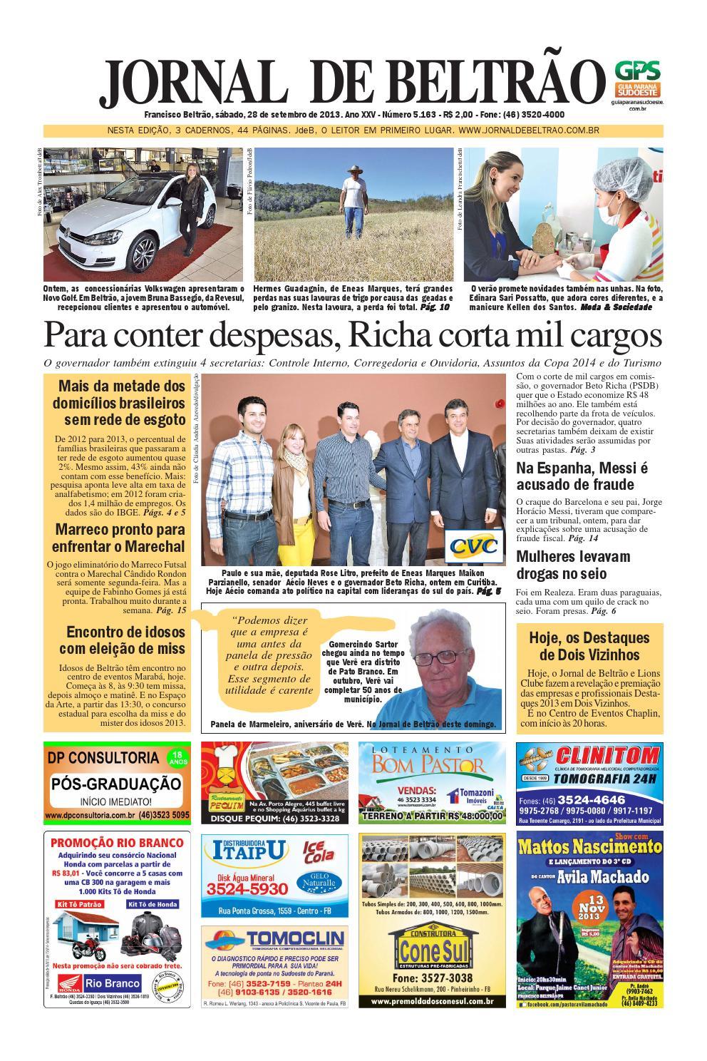 Jornaldebeltrao 5163 28 09 2013 by Orangotoe - issuu 6c2fb28347977