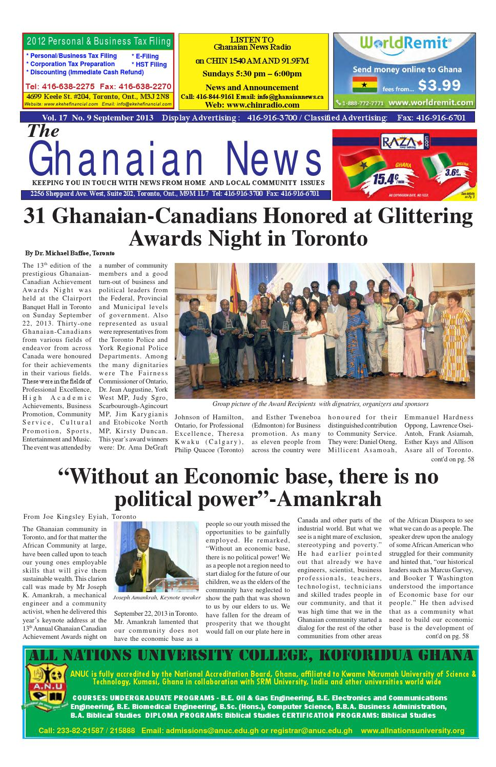 Ghanaian News September 2013 Edition by Emmanuel Ayiku - issuu