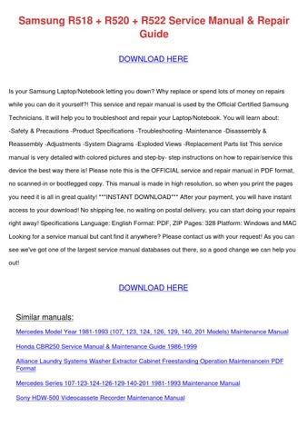 Samsung R518 R520 R522 Service Manual Repair by KendrickJudd - issuu