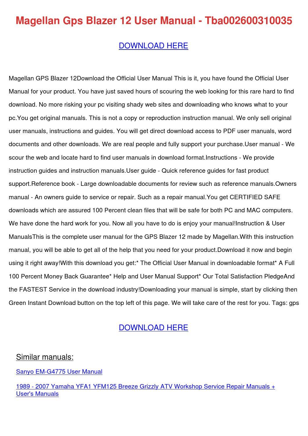 magellan gps 2000 manual pdf