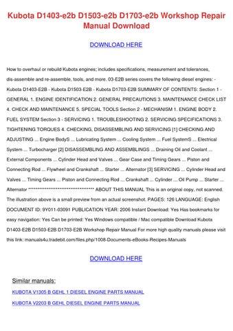 kubota l2800dt l2800hst tractor illustrated master parts manual instant download