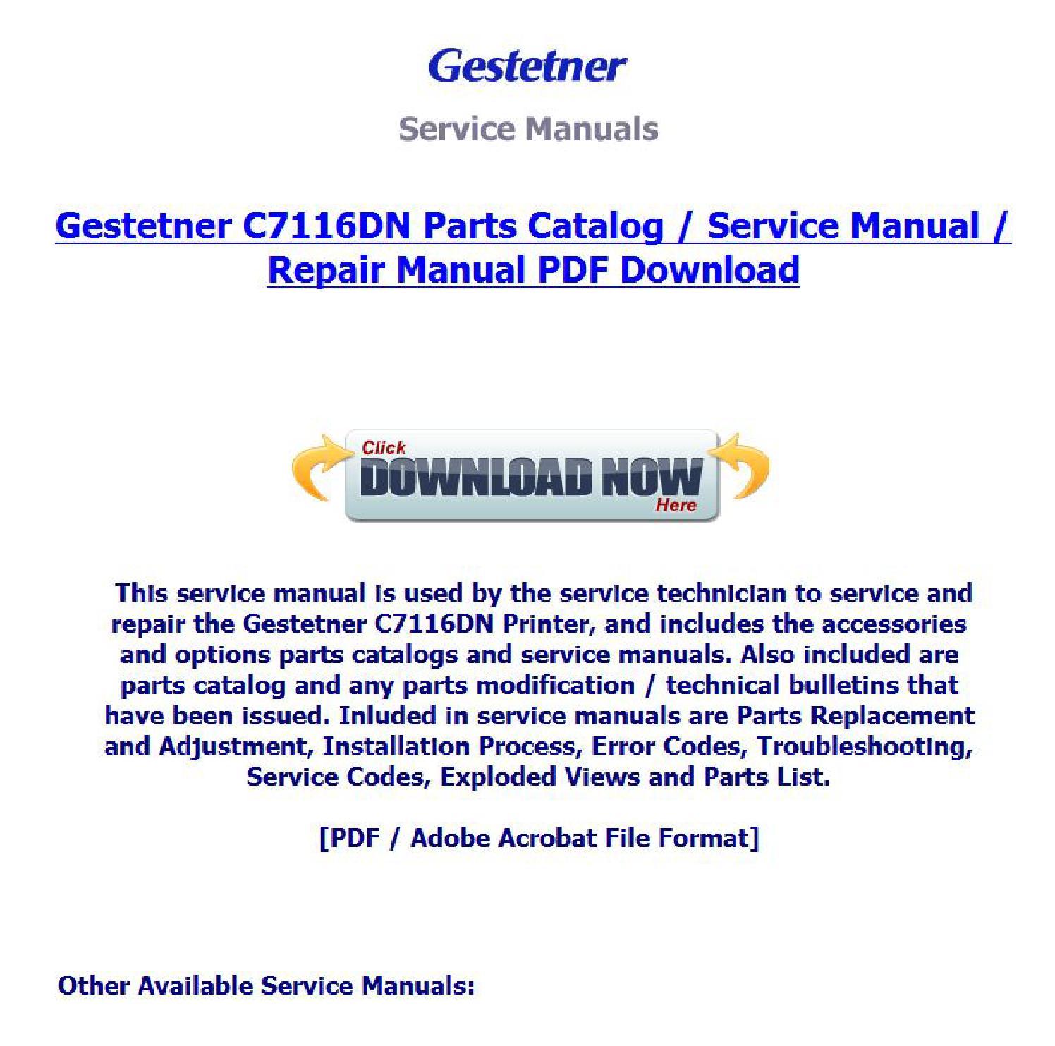 GESTETNER C7116DN WINDOWS 10 DOWNLOAD DRIVER