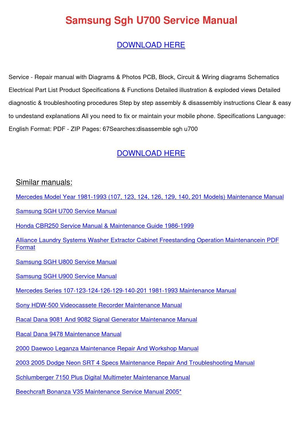 Samsung u700 service manual.