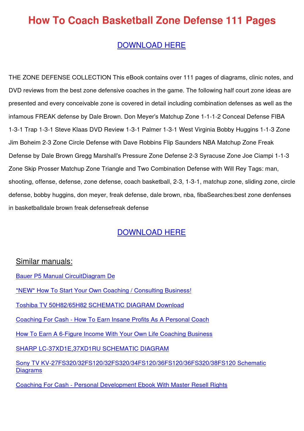 How To Coach Basketball Zone Defense 111 Page By Tillystricklin Issuu 1997 Toyota Corolla Electrical Wiring And Circuit Diagram Document