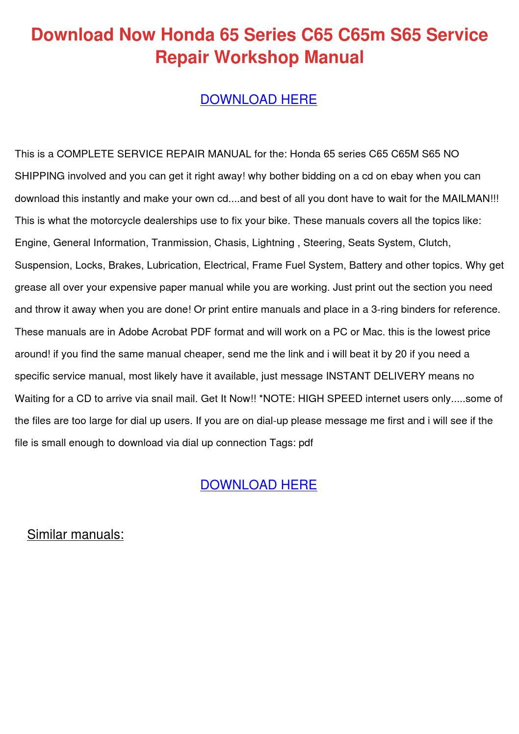 honda s65 service manual 4 stroke net