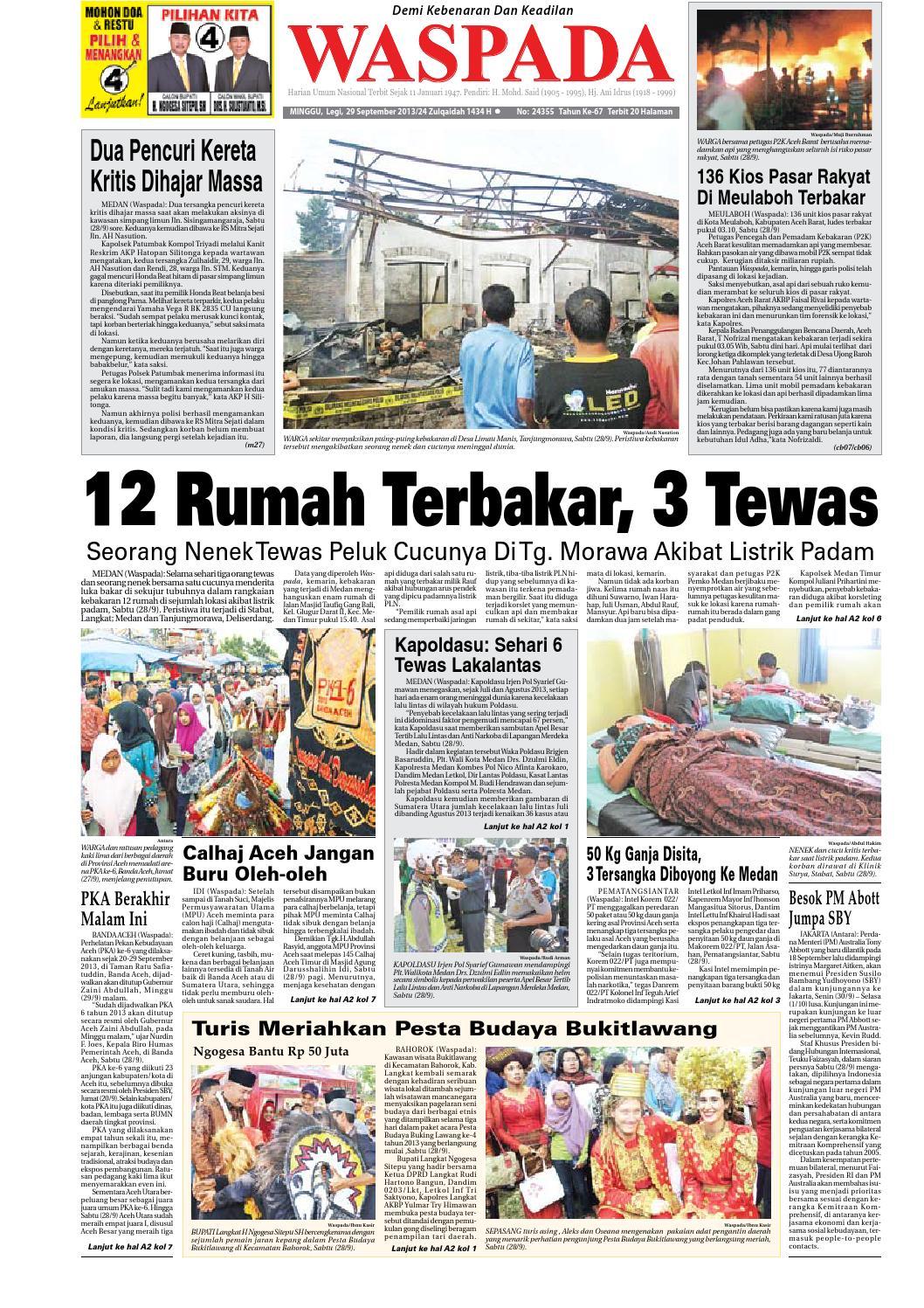 Waspada Minggu 29 September 2013 By Harian Waspada Issuu