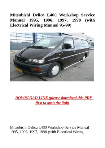 page_1_thumb_large 1995 1998 mitsubishi delica l400 workshop service manual by dniel mitsubishi delica l400 wiring diagrams download at alyssarenee.co