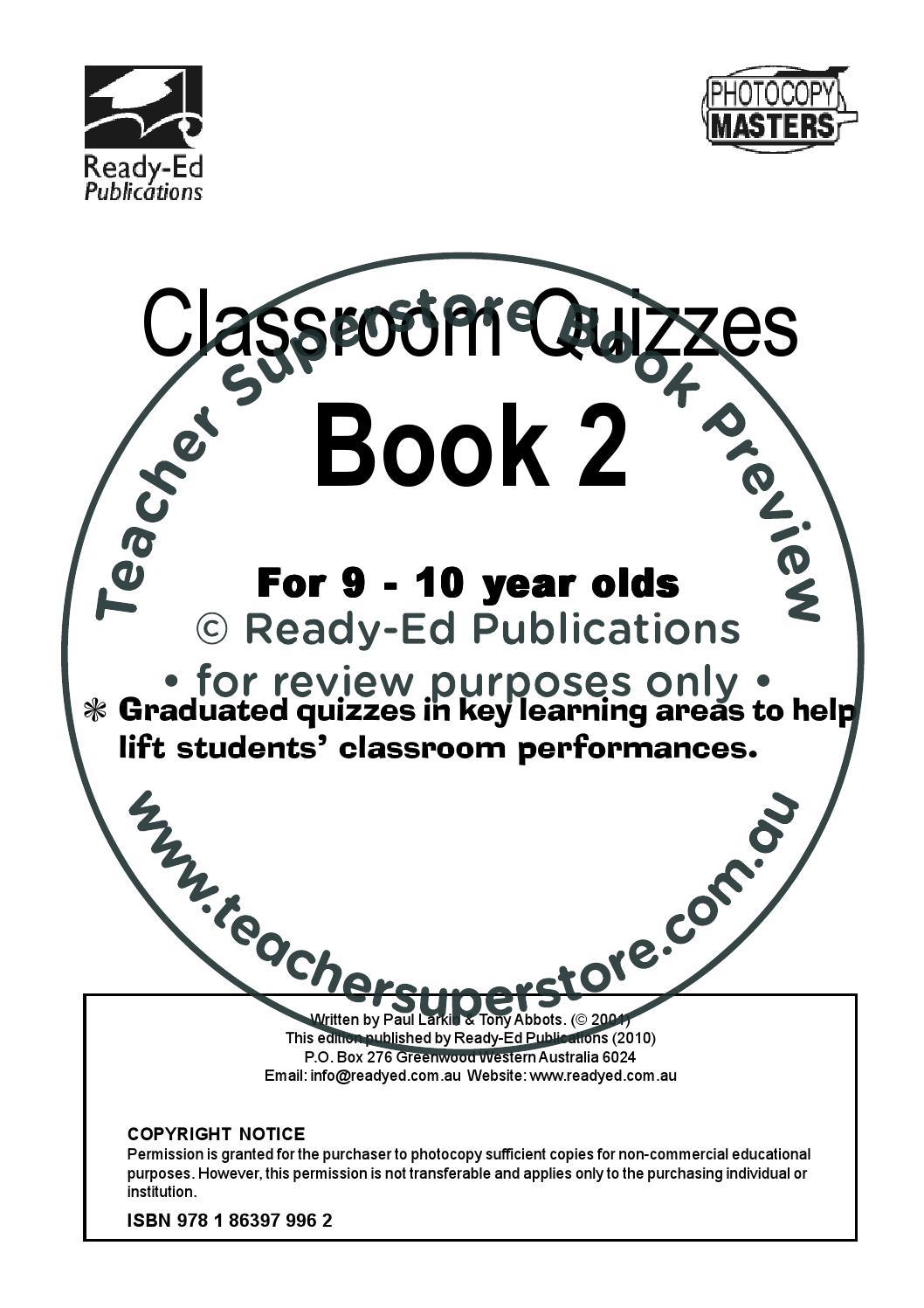 Classroom Quizzes Series Book 2 By Teacher Superstore Issuu