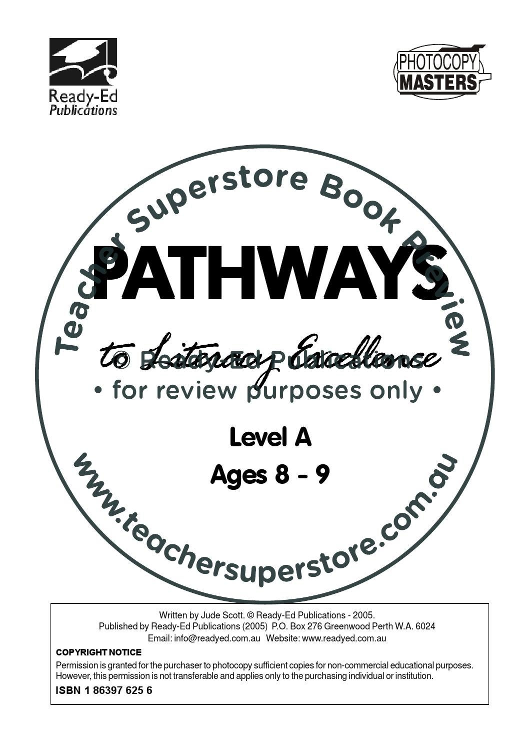 Pathways To Literacy Level A Ages 8 9 By Teacher Superstore Issuu