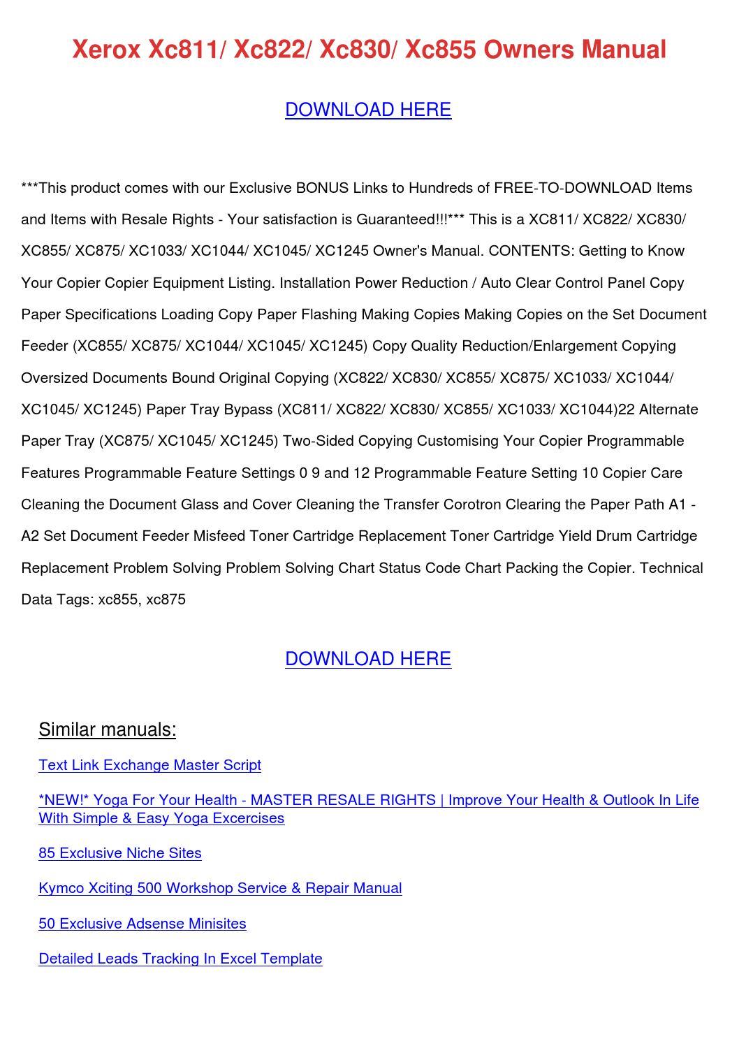 kymco xciting 500 parts manual catalog download 2007 onwards