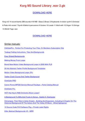 Korg M3 Sound Library Wav 2gb by BrendanBergeron - issuu