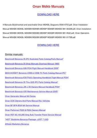 onan mdkb manuals download here