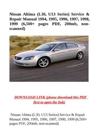 Nissan Altima L30 U13 Series Service Amp Repair Manual border=