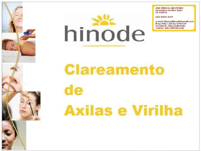 Blessed Hinode Spa Clareamento De Axilas E Virilha By Familia
