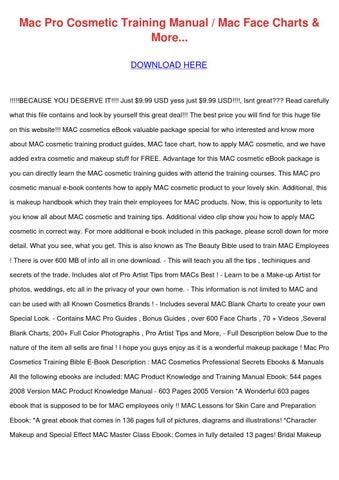 Mac Pro Cosmetic Training Manual Mac Face Cha by MilfordMueller ...