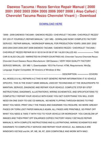 manual chevrolet vivant
