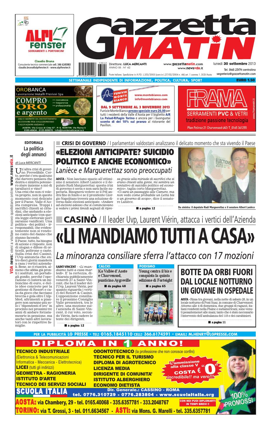 Gazzetta Matin del 30 settembre 2013 by Luca Mercanti - issuu 1f618cdb61b