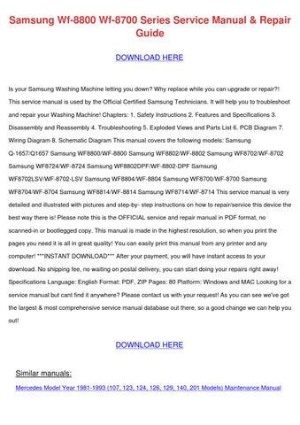 samsung wf 8800 wf 8700 series service manual by tobysturgis issuu rh issuu com