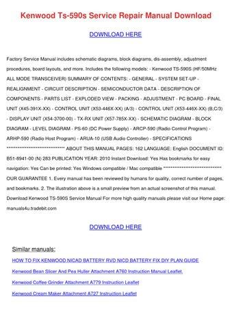 Kenwood Ts 590s Service Repair Manual Downloa by MayMcvay - issuu