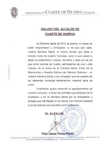 Saludo del alcalde de cuarte by Stevé Diseño Gráfico e Ilustración ...