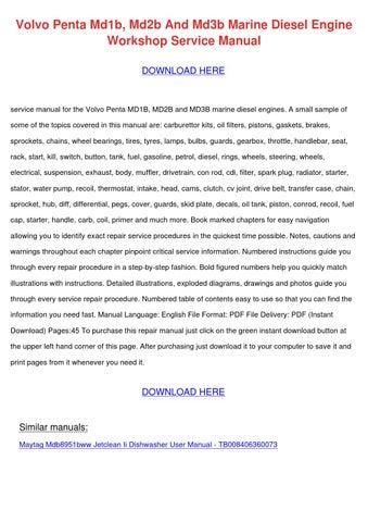 Volvo penta md1b md2b and md3b marine diesel by merrillmeek issuu volvo penta md1b md2b and md3b marine diesel engine workshop service manual download here publicscrutiny Images