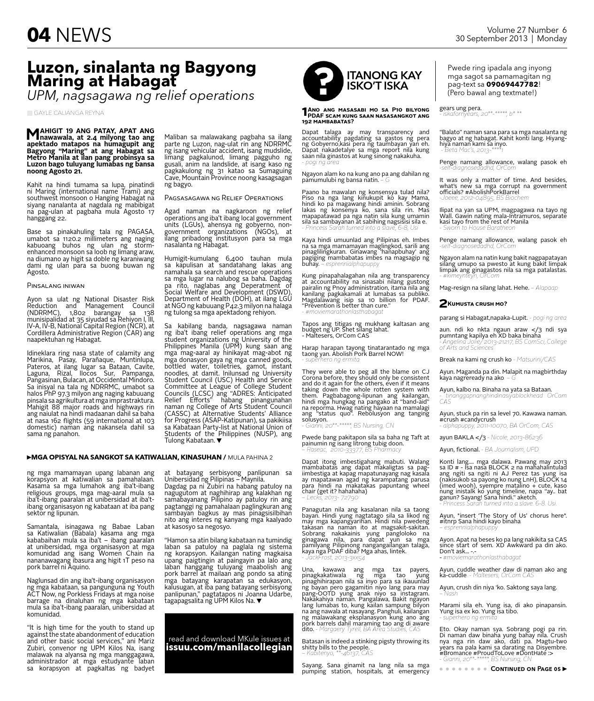 The Manila Collegian Volume 27 Issue 6 by The Manila