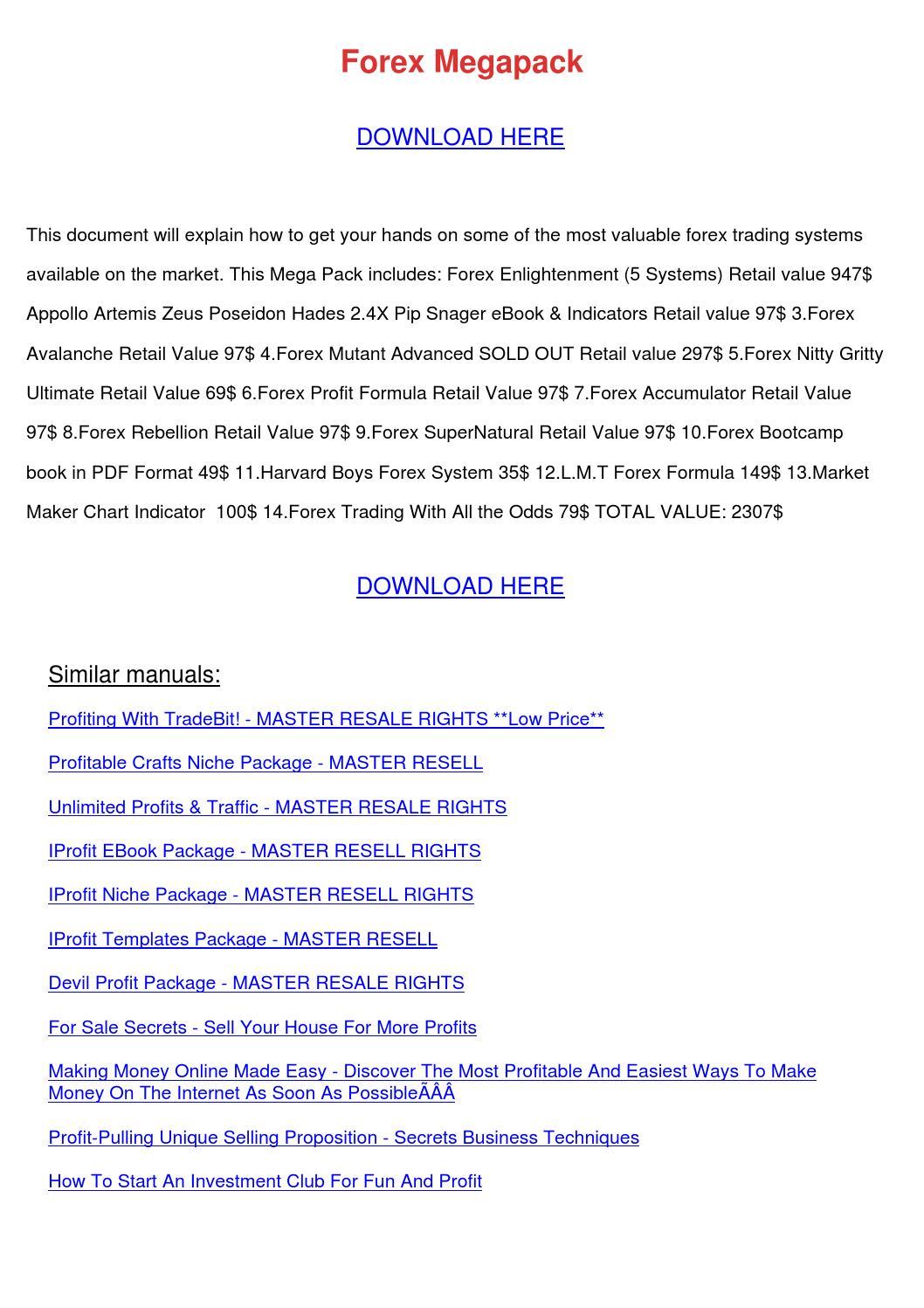 Forex nitty gritty pdf