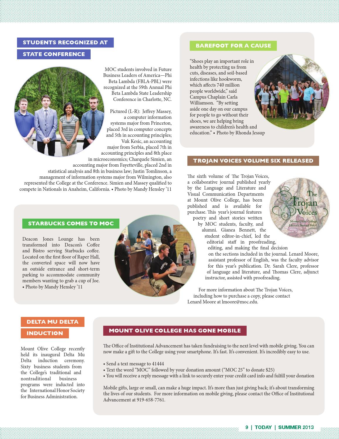 Mount Olive College Today Magazine By Mount Olive College