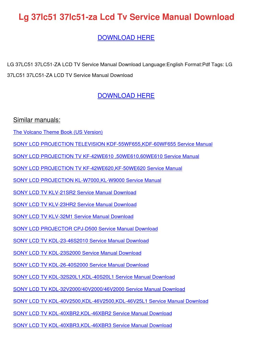 ... Array - lg 37lc51 37lc51 za lcd tv service manual dow by  herminegallegos issuu rh issuu ...