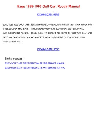 89 ez go manual ebook Ezgo Gas Golf Cart Year Drawings Of E Z Go Valor Carts New Oxford Pennsylvania on
