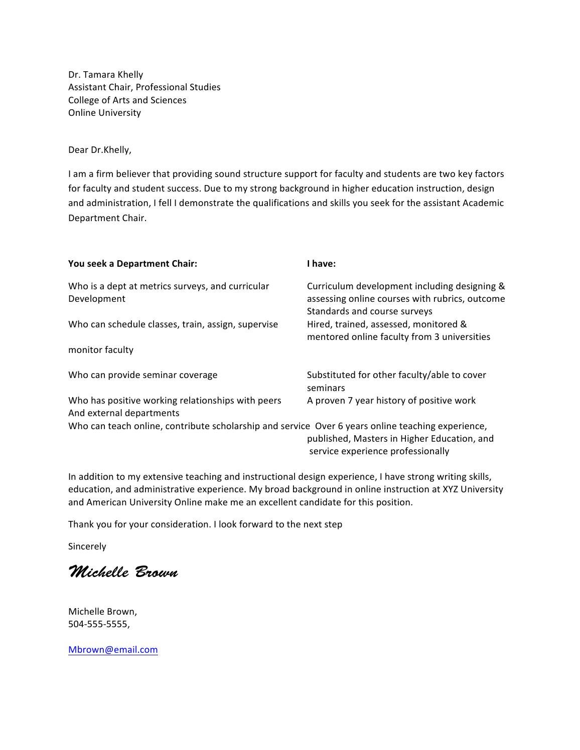 Cover letter 2 by Lamar University Dept. of Career and ...