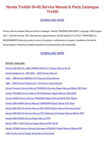 Page Thumb Large on Honda Cbr 600 F4i Wiring Diagram