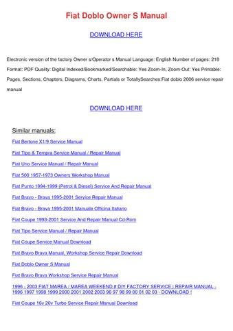fiat punto diesel service and repair manual