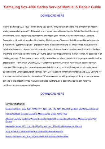 Samsung Scx 4300 Series Service Manual Repair by HarryFried - issuu