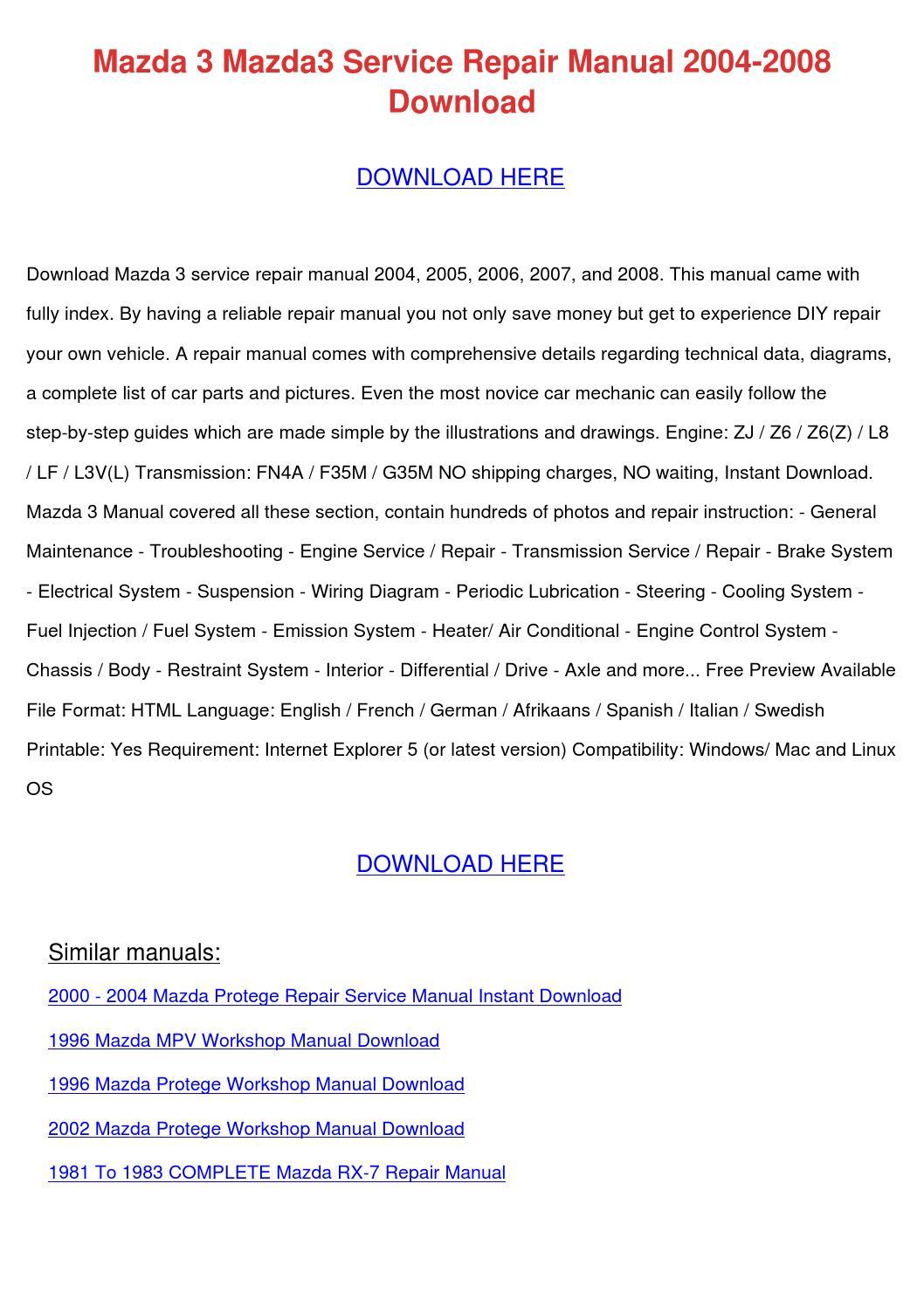 Mazda 3 Service Manual: Differentials
