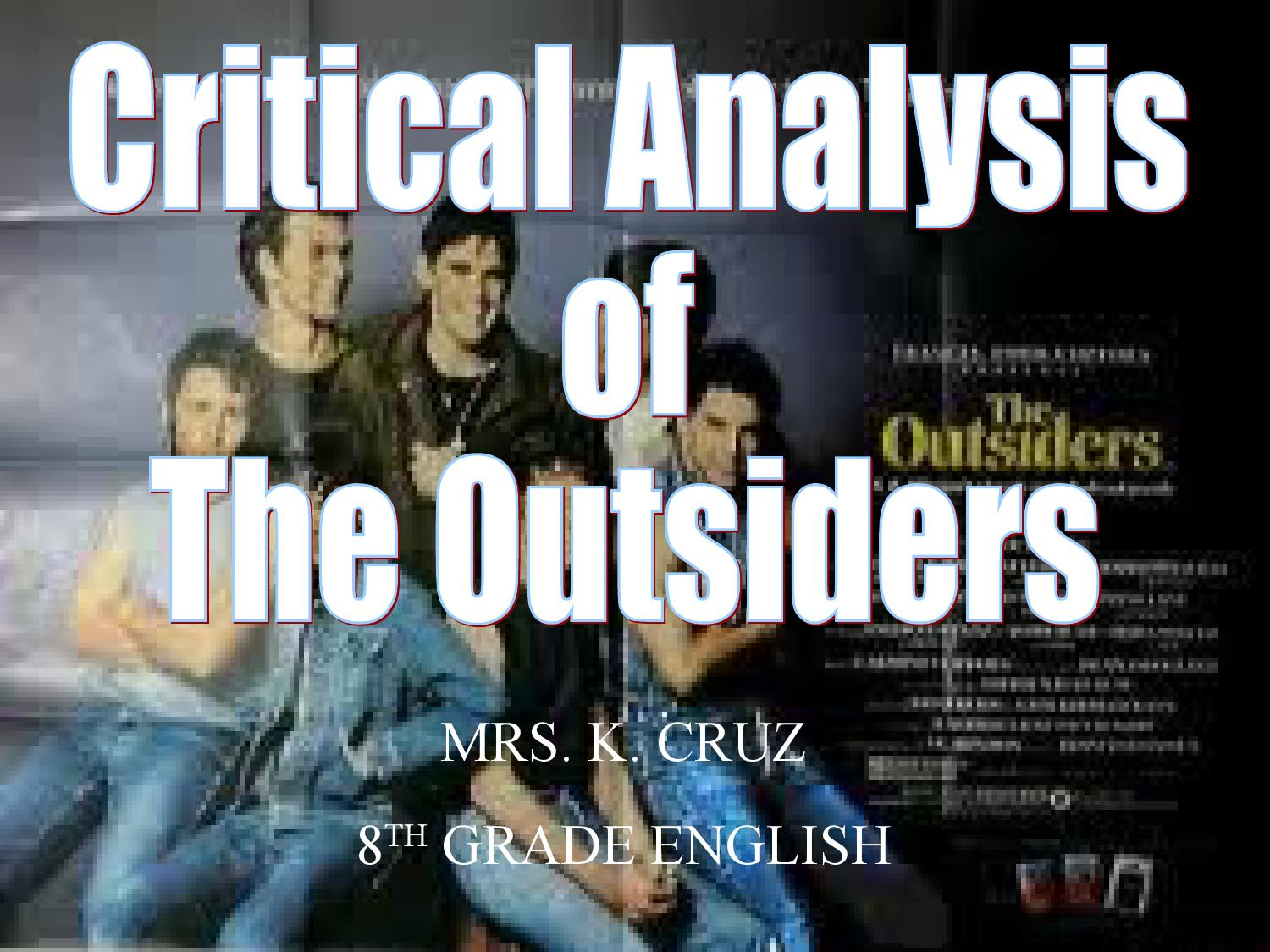 character analysis of ponyboy in the outsider by s e hinton This is exemplified in the relationship between ponyboy, a  johnny cade's character traits in se hinton's the  short summary of the book the outsiders.