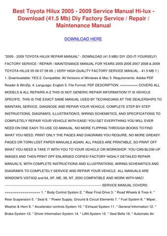 toyota hilux hi lux mk3 owner manual
